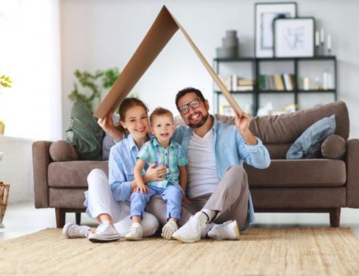 rodina v obývačke