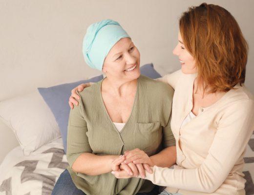 staršia žena s rakovinou
