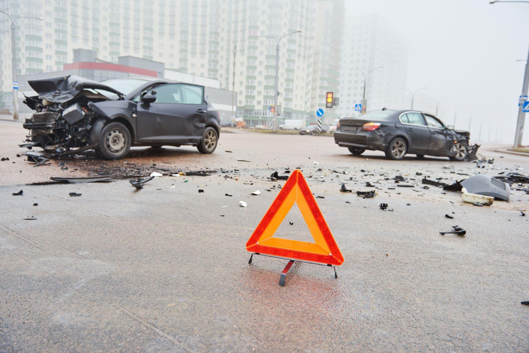 autonehoda výstražný trojuholník