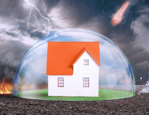 oheň víchrica blesk rodinný dom